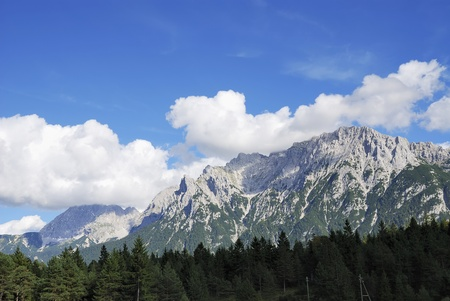 Karwendel mountains in Bavaria (Germany)