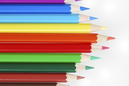 Group of wooden colored crayons Stock Photo - 8583602