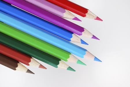 Group of wooden colored crayons Stock Photo - 8624698