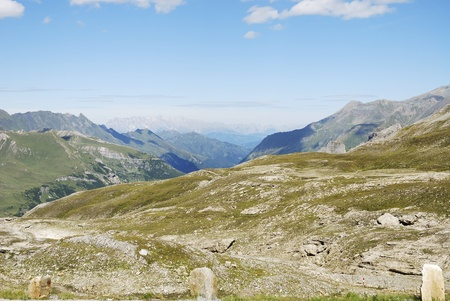 Mountain view in Austria at the Grossglockner Hochalpenstrasse (high alpine road). Stock Photo - 8678433