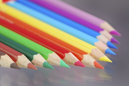 Group of wooden colored crayons Stock Photo - 8678430