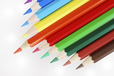 Group of wooden colored crayons Stock Photo - 8746419