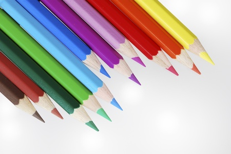 Group of wooden colored crayons Stock Photo - 8746526