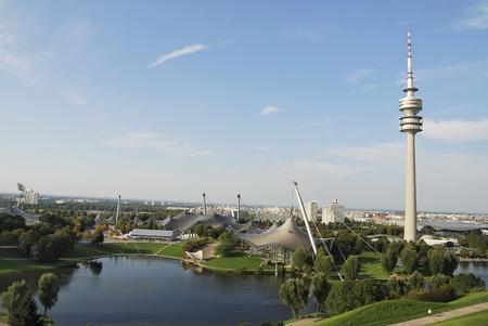 deportes olimpicos: Munich, Alemania - el 17 de septiembre de 2007: Munich Olympia Park.  Editorial