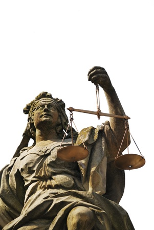 justitia: Estatua de Lady justicia en Weikersheim (Alemania)