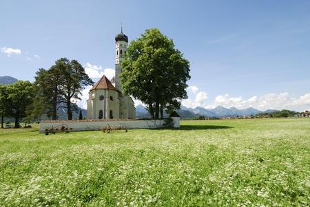schwangau: Baroque St. Coloman church near Schwangau (Bavaria)