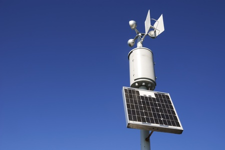 anemometer: Weahter station for measuring wind velocity