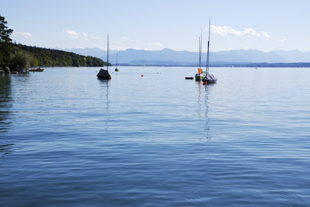 starnberger see: Lake Starnberg (Starnberger See) in Bavaria (Germany) Stock Photo