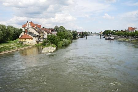 regensburg: The Danuber river in Regensburg (Germany)