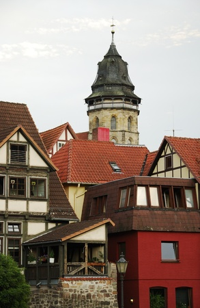 timbered: Half timbered houses in Hannoversch M�nden (Germany) Editorial