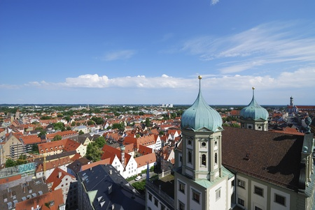 View over the city of Augsburg (Bavaria, Germany)