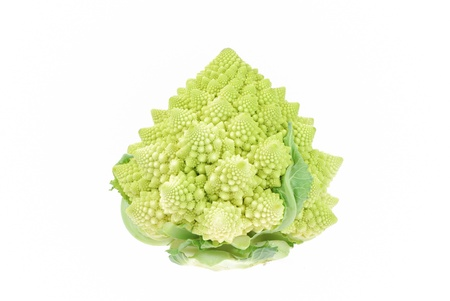 romanesco: Green, fresh romanesco vegetable raw food Stock Photo