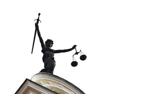 dama de la justicia: Estatua de la Señora Justicia se ve en el antiguo ayuntamiento de Ingolstadt