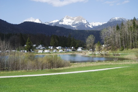 campground: Campground in the alps of Bavaria (Germany)
