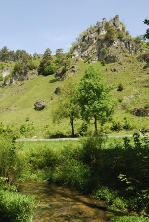 schweiz: Landscape in Franconian Switzerland  Fraenkische Schweiz, Germany