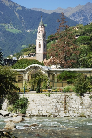 nikolaus: St. Nilolaus church in  Meran in South Tyrol (Italy)