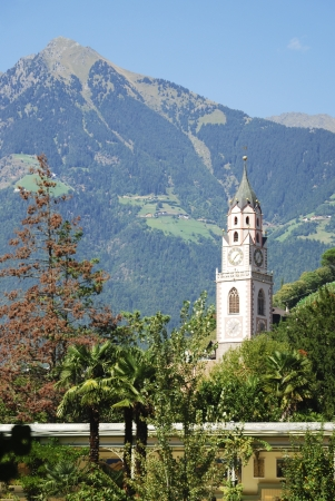 meran: St. Nilolaus church in  Meran in South Tyrol (Italy)
