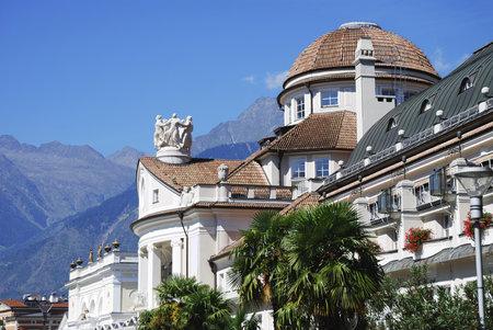 meran: The Kurhaus (built 1911) in Meran (South Tyrol, Italy)
