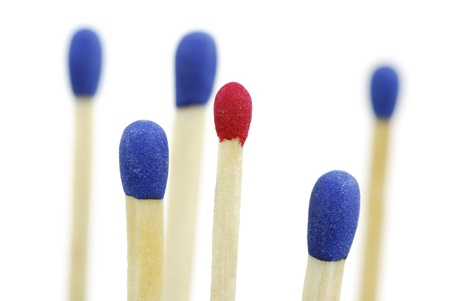 Macro of a group of isolated matches Stock Photo - 16887876