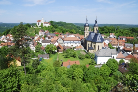 Village and Castle and Basilica of Goessweinstein (Franconian Switzerland, Germany) Stock Photo - 17120962