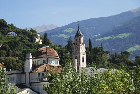 tyrol: Village of Meran in South Tyrol (Italy) Stock Photo