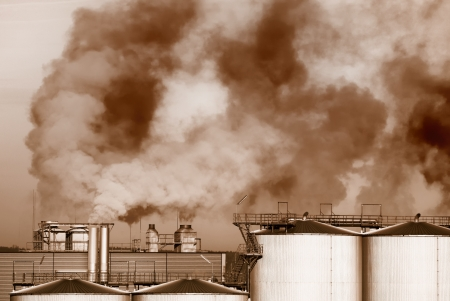 Industrial Revolution and air pollution Stock Photo - 17284632