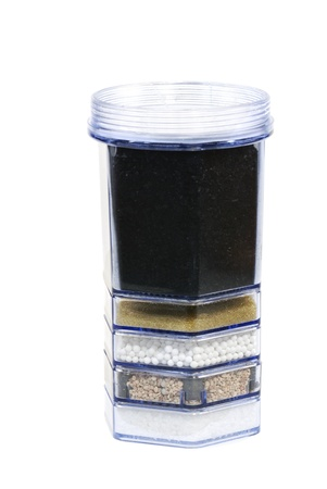 Water purification filter with activated charcoal and other filter substrates photo