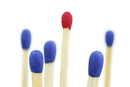 Macro of a group of isolated matches Stock Photo - 17856202