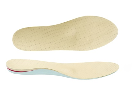 A pair of orthopedic show insoles