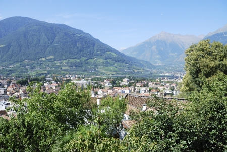 meran: The spa town of Meran in South Tyrol (Italy)