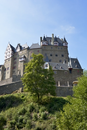 family owned: WIERSCHEM, GERMANY - SEPTEMBER 3: Eltz castle at Wierschem, Germany on September 3, 2103.  It is still owned by a branch of the same family that lived there in the 12th century, 33 generations ago.