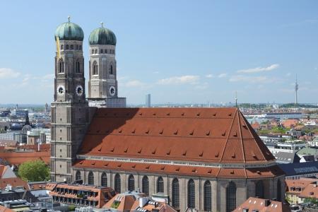 frauenkirche: M�nchen-Panorama mit der Frauenkirche