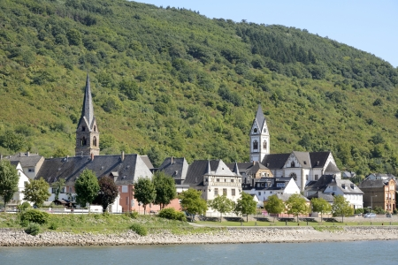 rhein: Small town in the Rhine Valley (Germany)