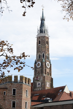 landshut: St. Martin Church in Landshut, which has the highest clinker  tower of the world