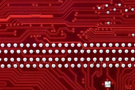 printed circuit board: Gros plan d'une carte de circuit imprim� rouge Banque d'images