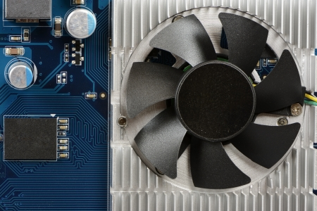 Fan assembly and heat sink of a graphic board. photo