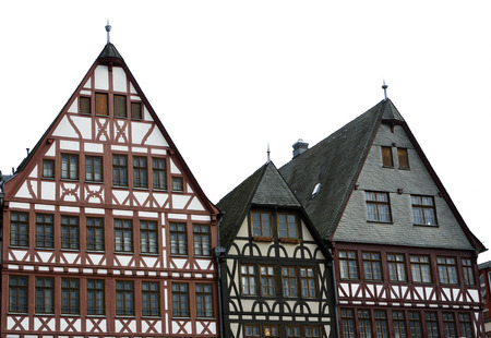 roemerberg: Half timbered houses at the Roemerberg  in the historic center of Frankfurt.