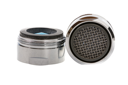 aerator: Two Isolated faucet aerators for saving water.