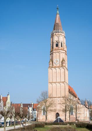 landshut: St. Jodok Church in Landshut (Bavaria, Germany)