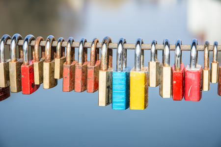 everlasting: Locks of love - symbol for everlasting friendship Stock Photo