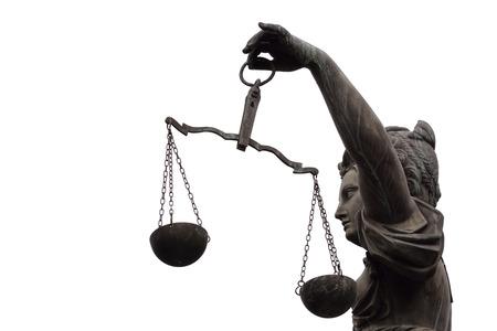 justitia: Justitia (Lady Justice) la escultura en la plaza Roemerberg en Frankfurt, construida el a�o 1887.