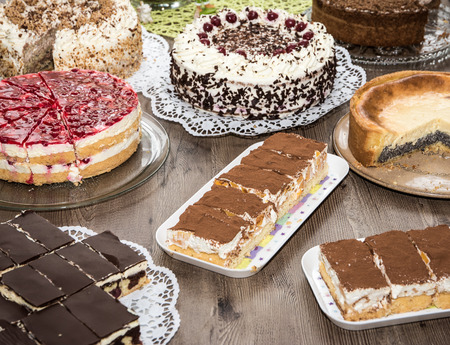 Cake buffet for a birthday party