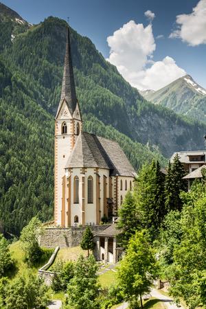 tauern: Church in Heiligenblut at the Grossglockner in Austria Stock Photo