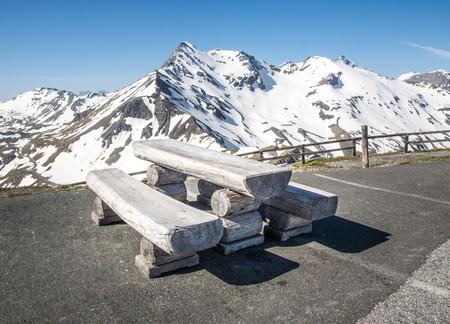 grossglockner: Picnic area at the Grossglockner high alpine road. Stock Photo