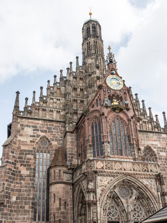 frauenkirche: Facade of the Frauenkirche church in Nuremberg (Franconia, Germany)