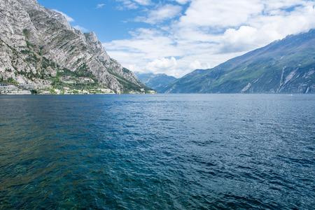 View over Lake Garda at Limone