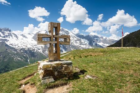 hohe tauern: Summit cross at the Hohe Tauern mountains in Austria