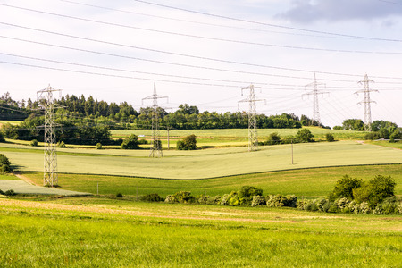 mains: Power network in a rural landscape