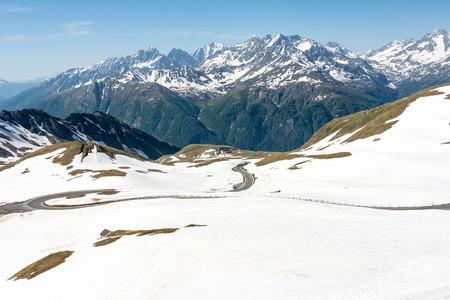 hohe tauern: Panoramic view of the Hohe Tauern mountain range in Austria Stock Photo