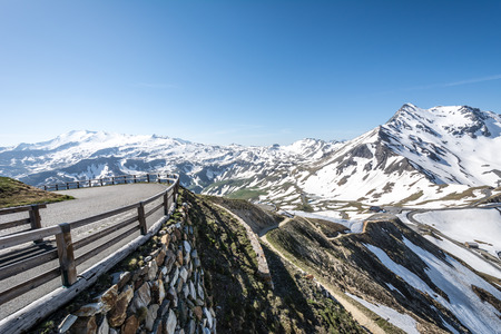 Mountain pass of the Grossglockner High Alpine Road in Austria. photo